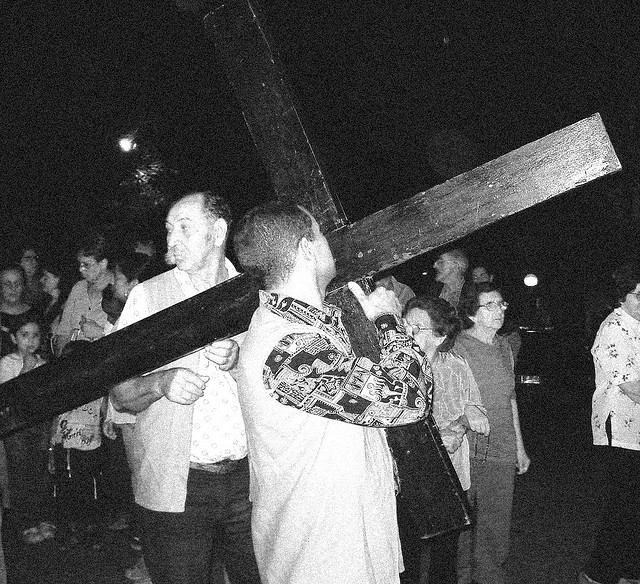 During Holy Week in Brazil, events like the Stations of the Cross are commonplace