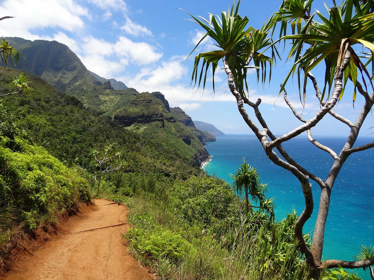 When you go to explore Kauai, be sure to check out the Na Pali Coast ... photo by CC user kdvandeventer on pixabay