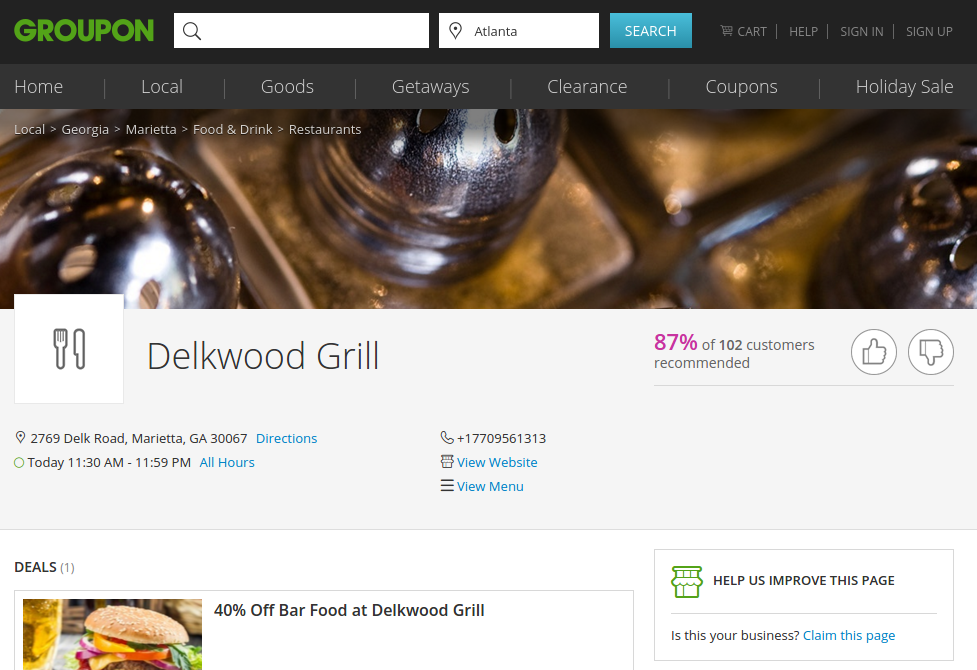 Delkwood Grill