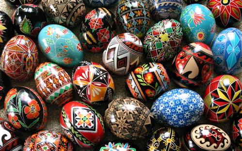 Easter Traditions Around the World include the decorative painting of eggs